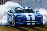Dodge Viper - Burnout by Lory Lockwood