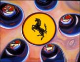 Ferrari Hubcap by Lory Lockwood