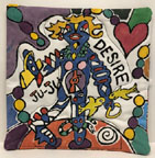 Hand-painted pot holders by Lois Simbach