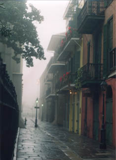 Pirate's Alley in the Fog by Lee Tucker
