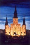 St. Louis Cathedral print by Peter Briant