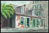 Lafitte's Blacksmith Shop Print by Peter Brian