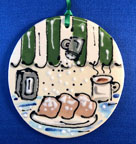 Coffee & Beignets Ornament by PDs Creations